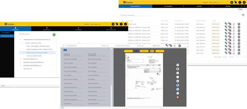 Dokumentni sistem EasyDox, ki je povezan s storitvijo za digitalizacijo vhodne pošte, organizacijam omogoča varno obdelavo prejetih dokumentov vedno in povsod, brez kakšnega koli fizičnega stika in v skladu s poslovnimi pravili.