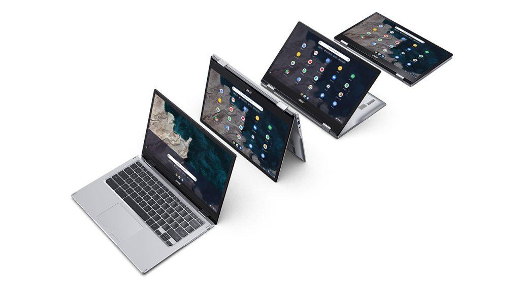 Prenosnik Acer Chromebook Spin 513 bomo z enim polnjenjem lahko uporabljali do 14 ur.