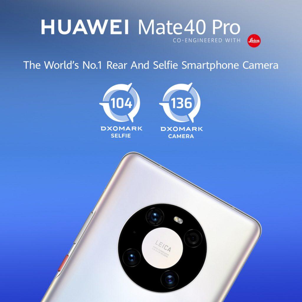 Huawei Mate 40 Pro z rekordno oceno na vrh lestvice DxOMark