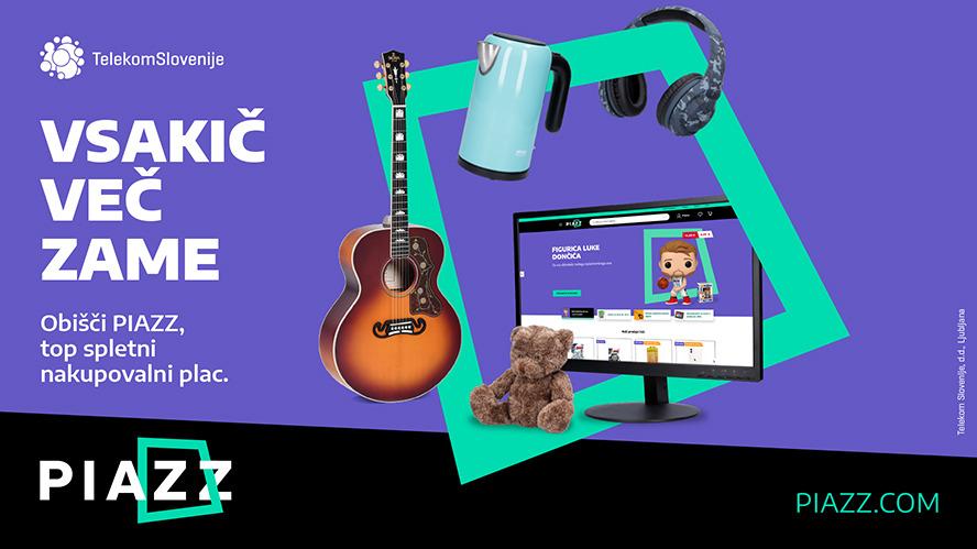 Kupcem in trgovcem je odslej na voljo novo spletno tržišče PIAZZ