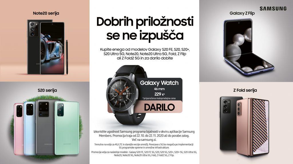 Izberite neverjetni Samsung pametni telefon in kot darilo prejmite Samsung pametno uro