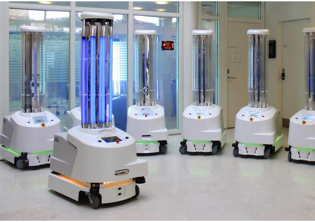 Robot za boj proti novemu koronavirusu