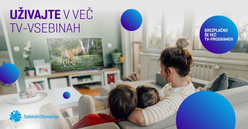 Telekom Slovenije je tudi v drugem valu epidemije brezplačno nadgradil vse TV-programske sheme