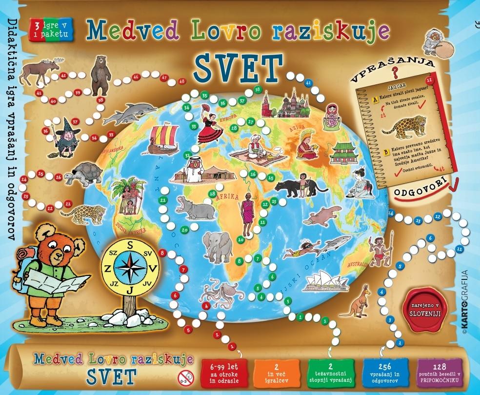 Zanimiva igra Medved Lovro raziskuje svet je nekakšno logično nadaljevanje Lovrovega potepanja po Sloveniji.