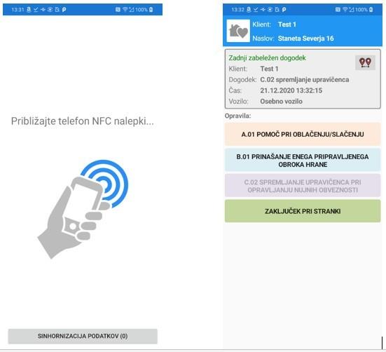 NFC in evidentiranje delovnega časa