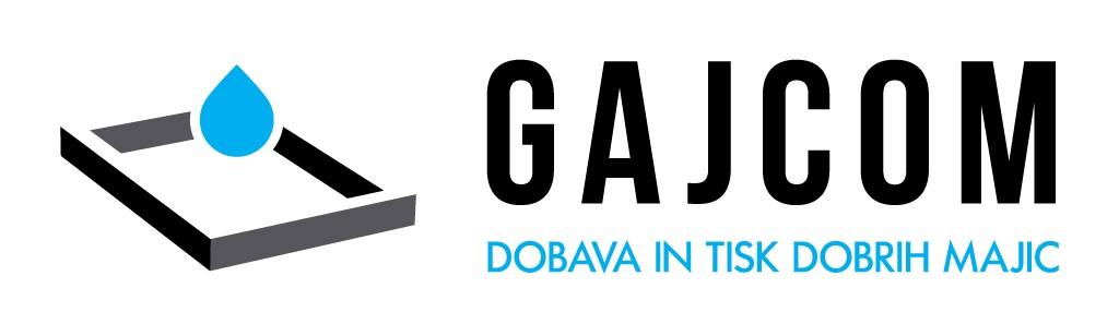 Gajcom logotip_ dobava in tisk majic