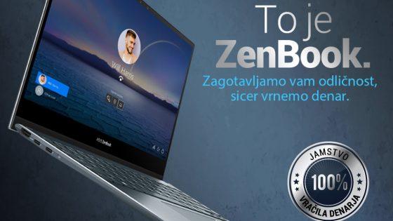 Prenosnik ASUS ZenBook na enaA.com zdaj v res zanimivi ponudbi.