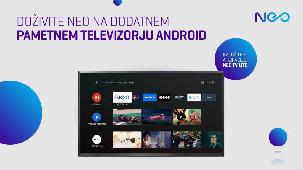 NEO je odslej za pametne TV-naprave na voljo tudi kot aplikacija