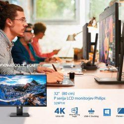 Monitorja Philips 326P1 in 329P1H s priključkom USB-C in Windows Hello
