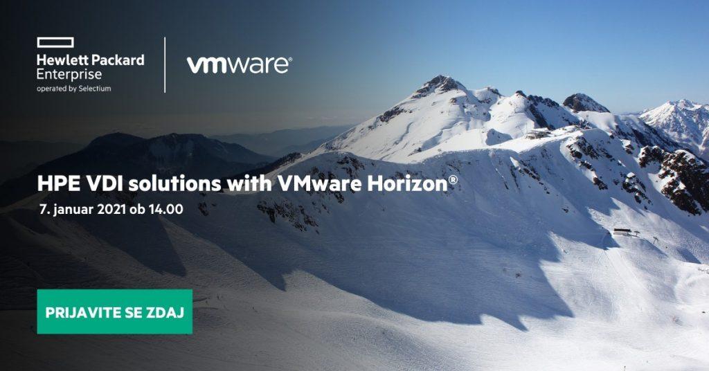 Virtualizacija delovnih postaj (VDI) s HPE in VMware