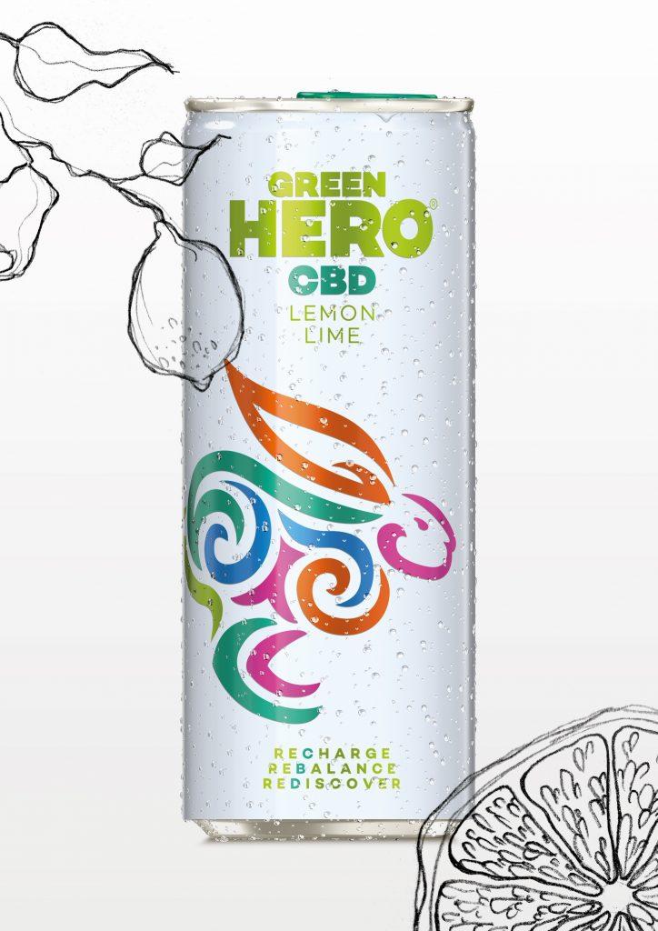 GREEN HERO, prva gazirana sadna pijača, ki vsebuje CBD.
