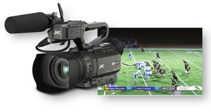 Videoexpert.eu_Streaming kamera z broadcast in športnimi grafikami