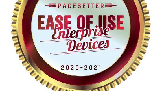BLI PaceSetter award 2020-2021 - Ease of Use: Enterprise Devices