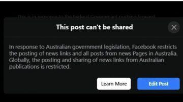 Facebook avstralskim uporabnikom blokiral ogled in deljenje novic