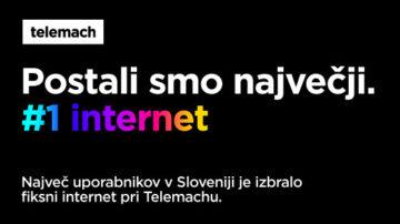 Telemach je postal vodilni ponudnik fiksnega interneta