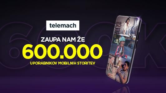 Telemach slavi novo prelomnico – 600.000 mobilnih uporabnikov