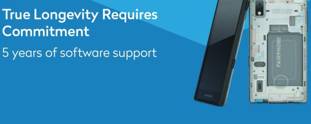 Fairphone 2 je tudi po petih letih prejel posodobitev sistema Android.