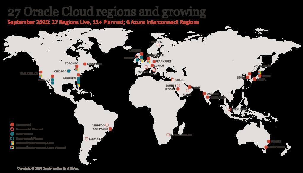 Druga generacija Oracle Cloud Infrastructure se širi po celem svetu.
