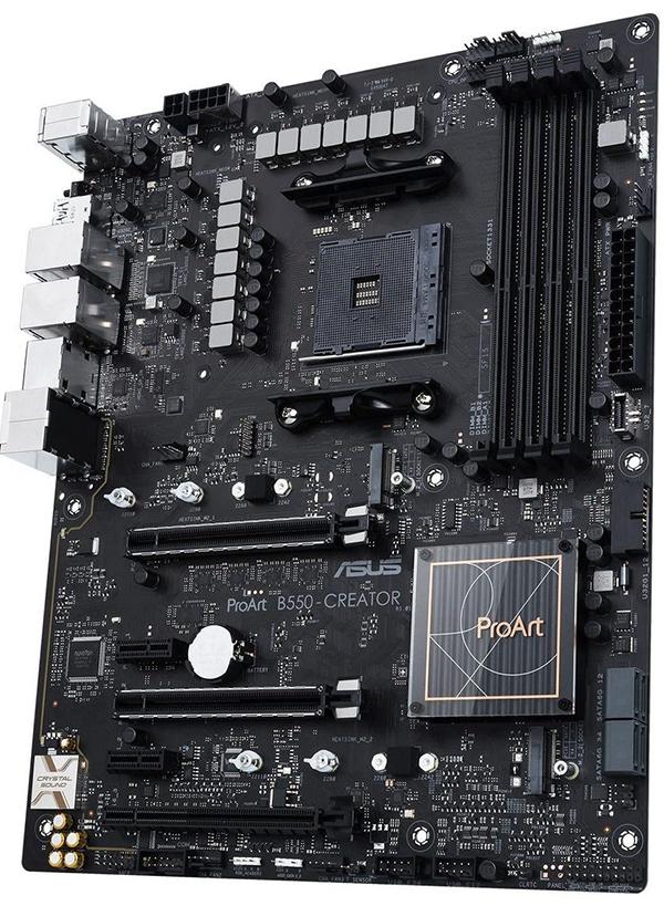 Osnovna plošča Asus ProART B550-Creator se bo zagotovo prikupila tudi najzahtevnejšim.