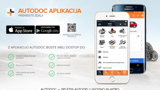 Aplikacija AUTODOC omogoča dostop do več kot milijon rezervnih delov za 6000 različnih modelov avtomobilov.