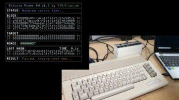 Legendarni Commodore 64 je mogoče uporabiti celo za rudarjenje kriptovalut.