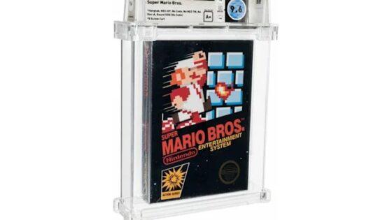 Legendarna igra Super Mario Bros je bila prodana za kar preračunanih 561 tisoč evrov.