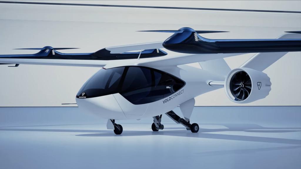 Štiri sedežni prototip zračnega taksija, katerega poganjajo litij-ionske baterije
