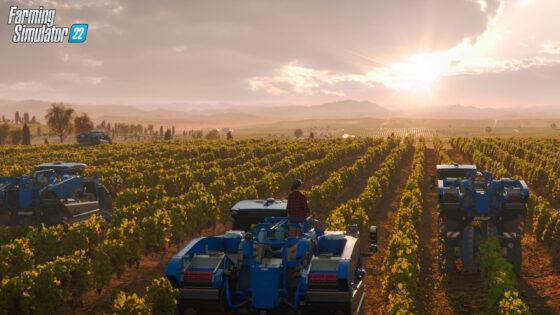 Farming Simulator bo 22. novembra navdušil oboževalce virtualnega kmetovanja. Čakajo vas novi pridelki, med njimi grozdje, olive in sirek.