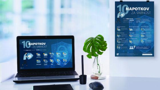 Izobraževalni plakati in ohranjevalniki zaslona »Bodi odgovoren 'digitalec'. Zaščiti sebe in podjetje!«. Bralci revije Računalniške novice si jih lahko brezplačno prenesete na www.b2.eu/e-plakat.