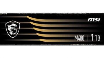 Pogon MSI Spatium M480 bo zlahka opravil tudi z najzahtevnejšimi nalogami.