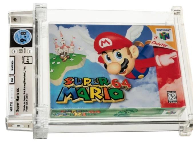 Legendarna igra Super Mario 64 je bila prodana za kar preračunanih 1,32 milijonov evrov.