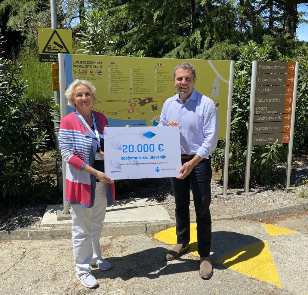 Zadnje leto so zaposleni v zdravilišču izkoristili za to, da so tudi s pomočjo donacije Telekoma Slovenije v višini 20.000 evrov poskrbeli za zunanjo ureditev mladinskega doma Martinček.