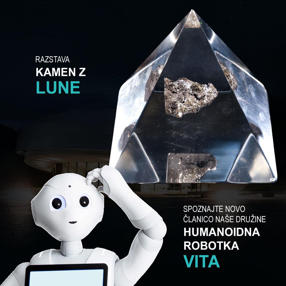 Robotka Vita, ki je tudi prvi stik z obiskovalci v Centru Noordung, bo z vami spregovorila o različnih tematikah in vas povabila v svet vesolja.