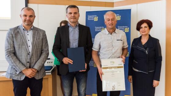 Od leve proti desni Aleš Cantarutti, Robert Zlatanov, Jože Orehar in Janka Planinc. Foto Klavdija Žitnik