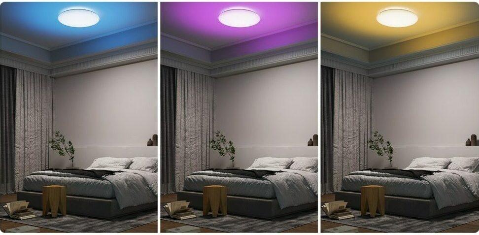 Kakšno svetlobo bi radi imeli? Belo, rumeno, modro, rdečo? Stropna svetilka Yeewin poskrbi za vse.